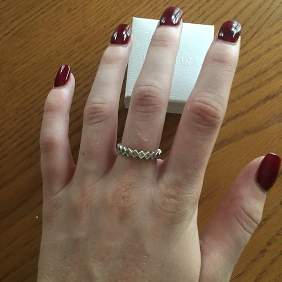 afeb40d4d Pandora Jewelry   Alluring Princess Stackable Ring   Poshmark